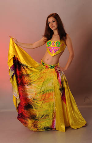 желтый костюм для bellydance(беллиданса)