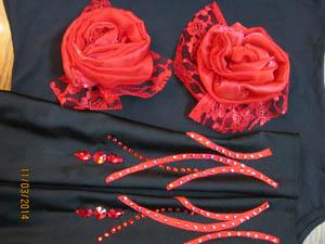 платье для бальных танцев танго