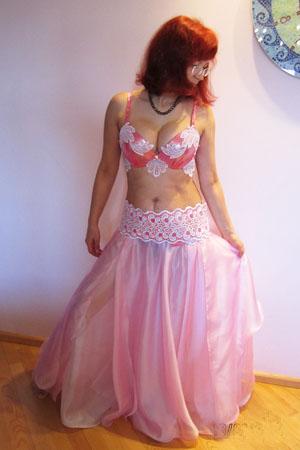 розовый костюм для bellydance(беллиданса)