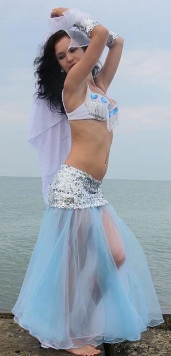 юбка на кокетке солнце клеш  для танецев живота