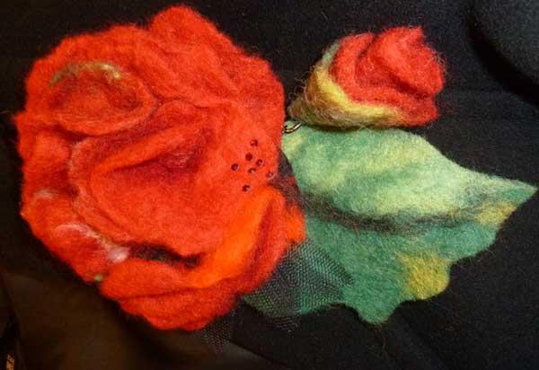 валяние из шерсти цветы от ателье Покровских