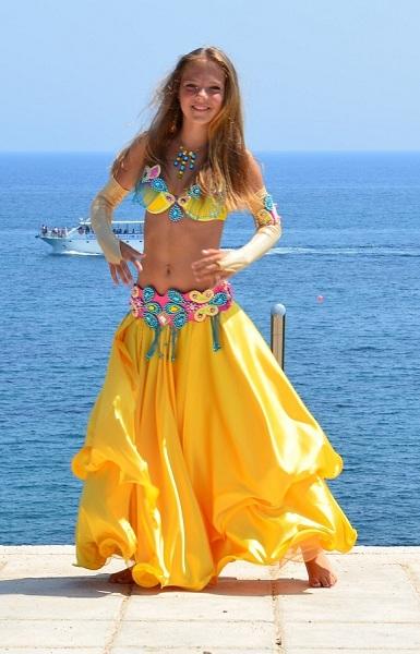 пошив юбки для танца солнце: