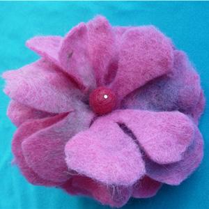 цветок брошка валяние из шерсти